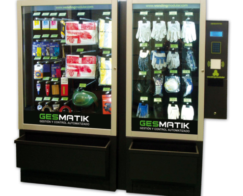 Distributore automatico di dispositivi di protezione individuale, utensili e materiale per ufficio