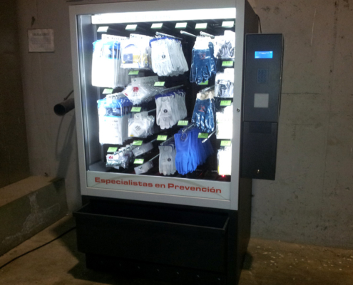 Máquina Distributeur automatique de gants, chaussures, salopettes jetables et lunettes de guantes, zapatos, buzos desechables y gafas